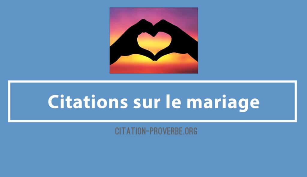 Citations sur le mariage