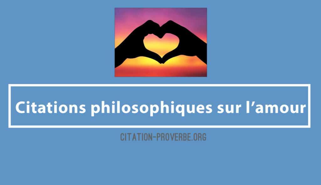 Citations philosophiques sur l'amour