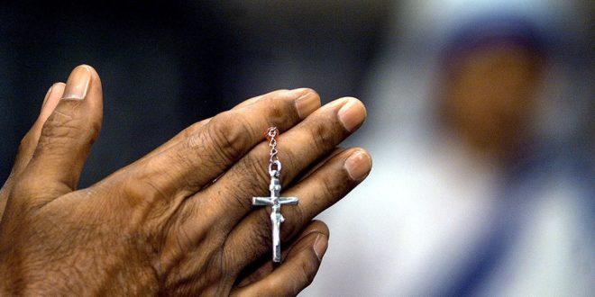 Chapelet avec croix chrétienne