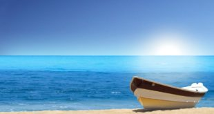 Mer, bateau et soleil