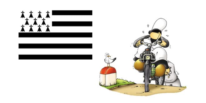 Mam Goudige et drapeau breton