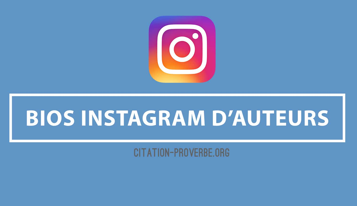 Bios Instagram d'auteurs