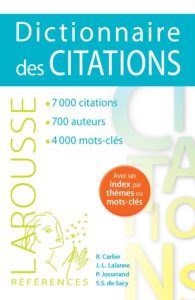 Dictionnaire de citations Larousse