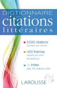 Dictionnaire de citations littéraires Larousse