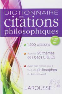 Dictionnaire de citations philosophiques Larousse